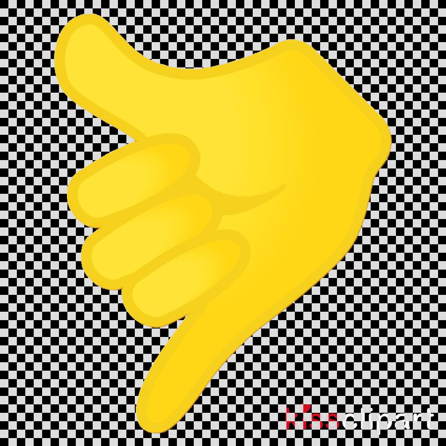 yellow hand finger gesture safety glove