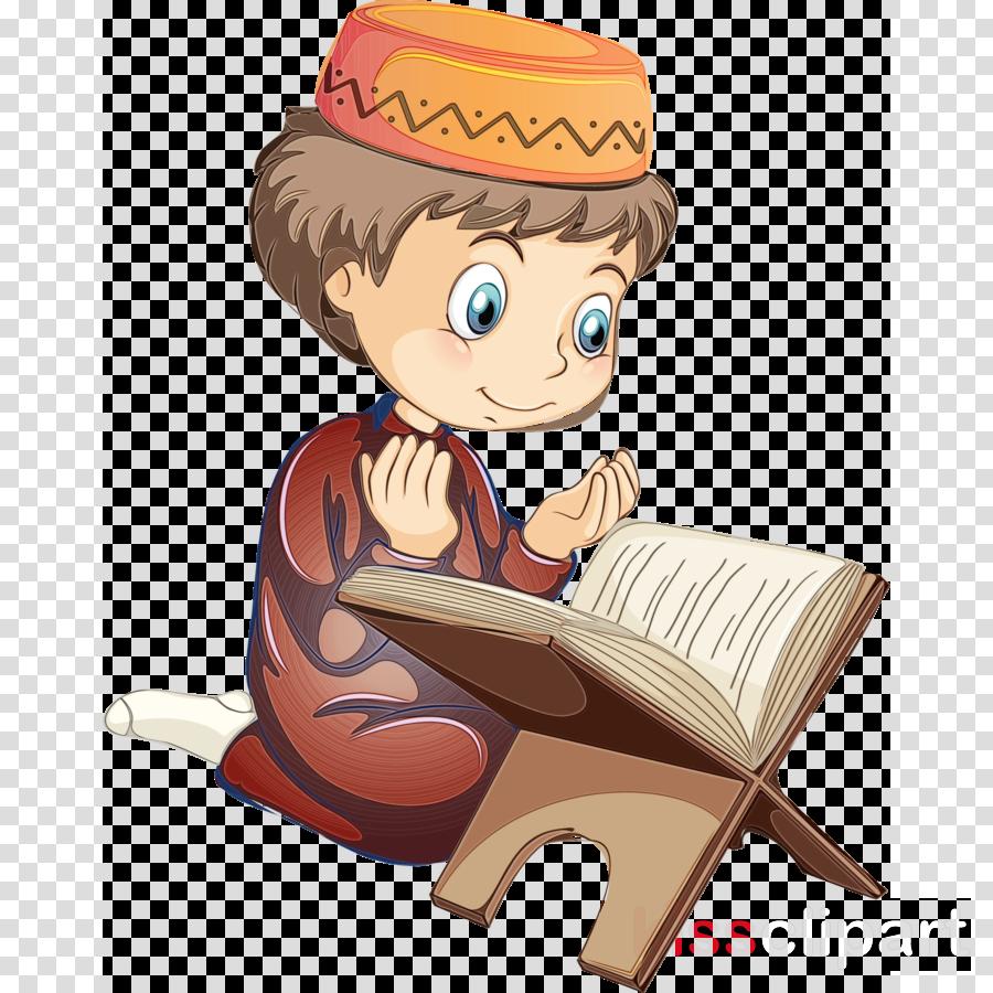 cartoon reading sitting