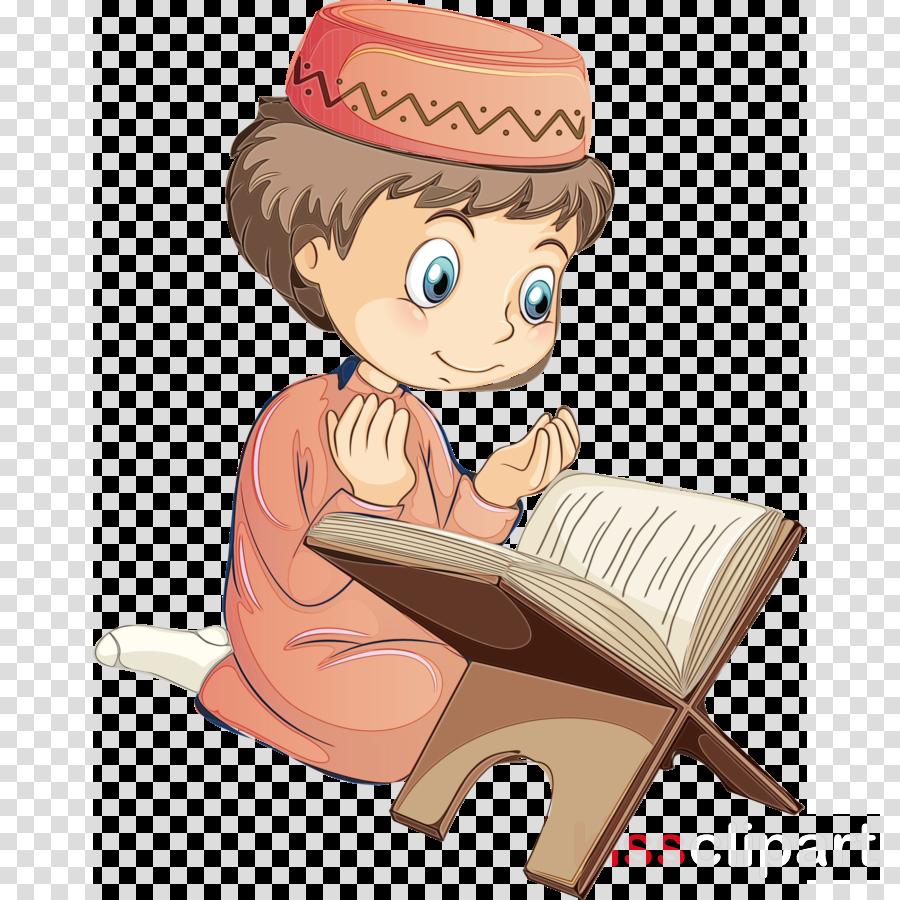 cartoon sitting reading
