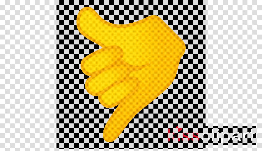 yellow finger hand safety glove gesture