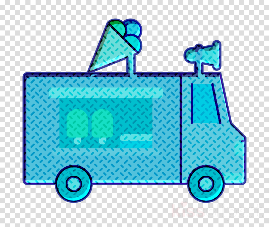 Ice Cream icon Ice cream truck icon Truck icon
