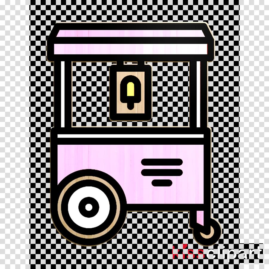 Ice cream cart icon Ice Cream icon