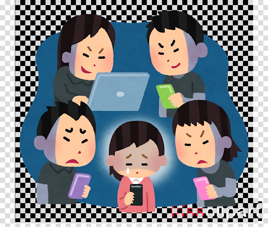 people cartoon sharing interaction child