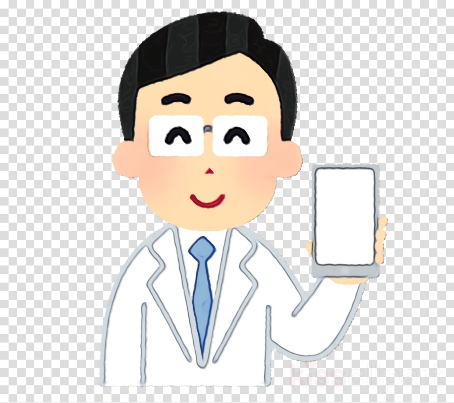 cartoon head white-collar worker finger gesture