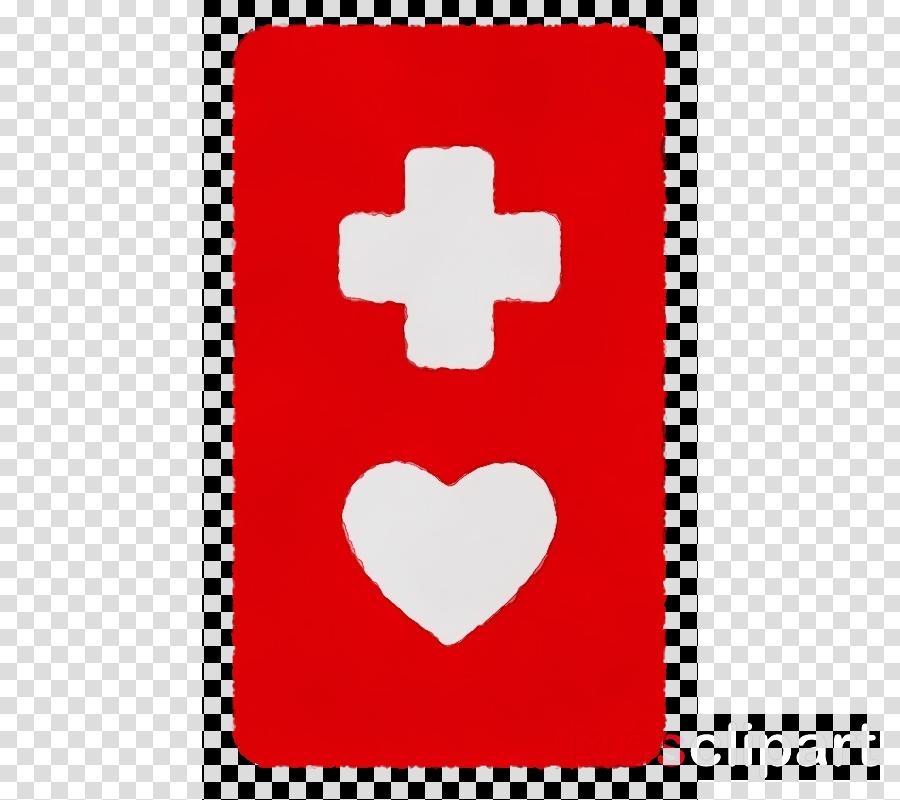 red symbol cross