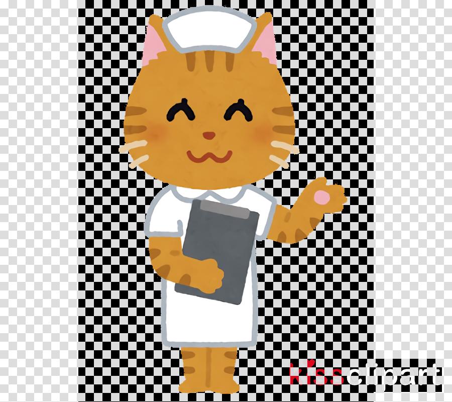 cartoon yellow cat gesture animation