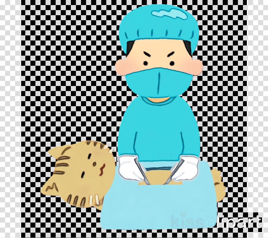 cartoon turquoise child