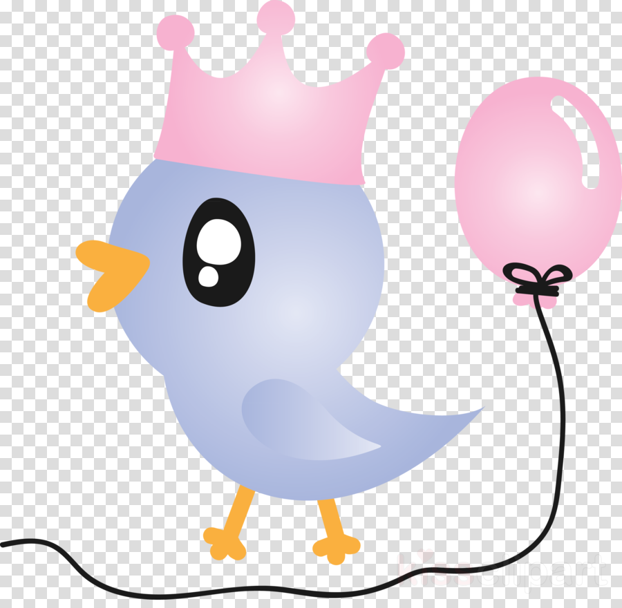 cartoon pink bird beak