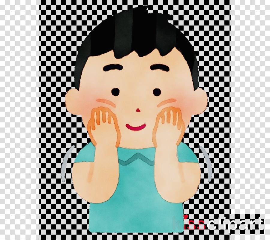 cartoon face cheek nose head