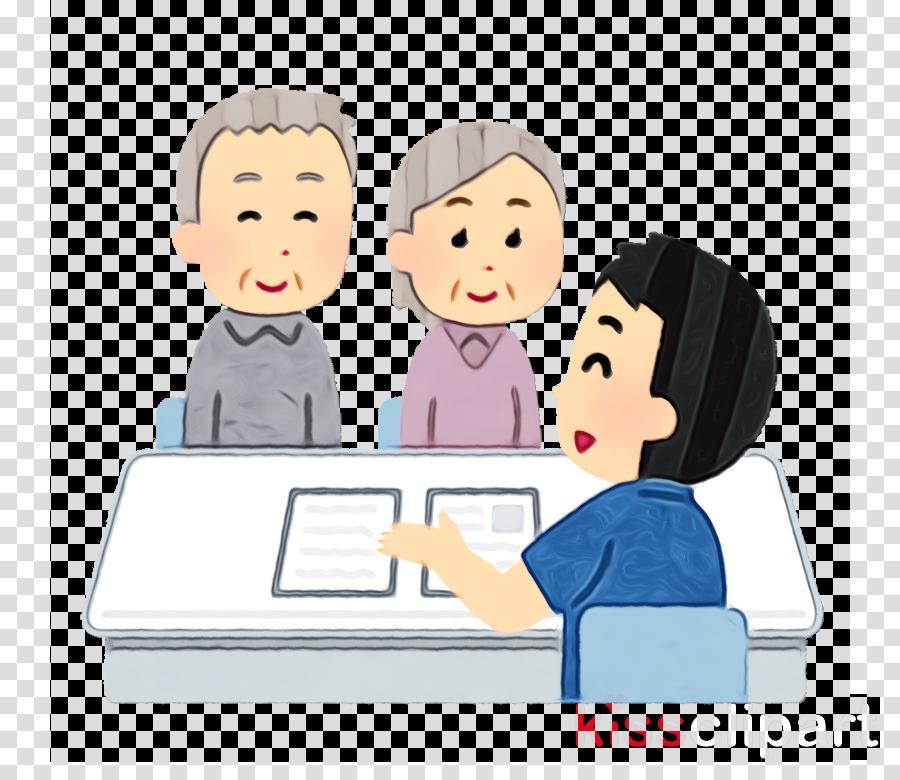 cartoon people sharing learning job