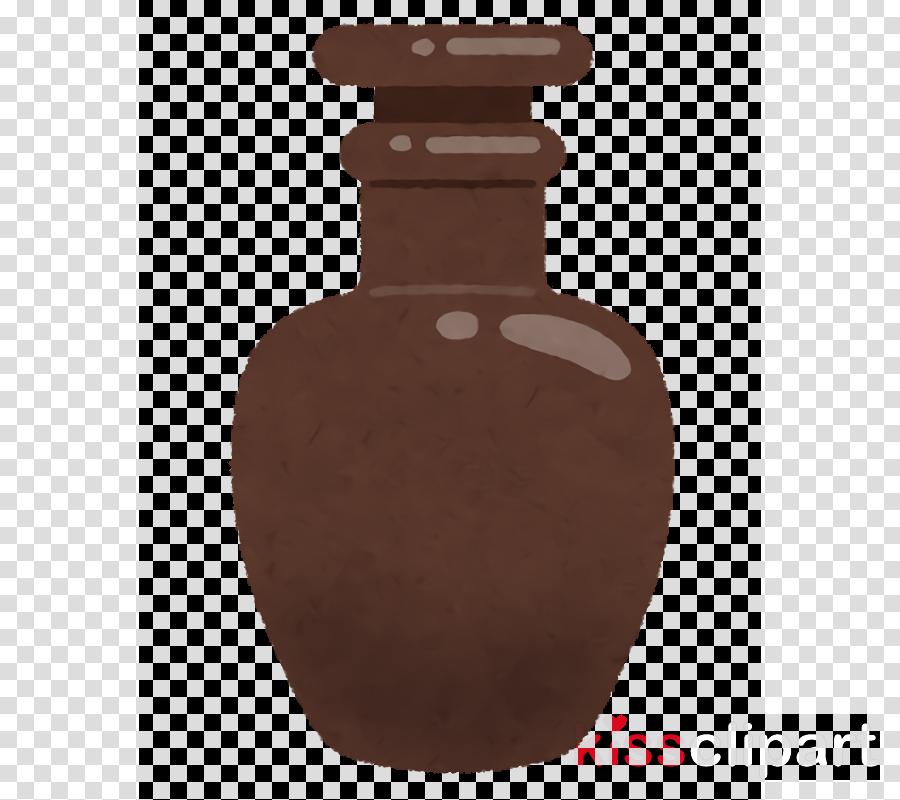 brown vase artifact bottle