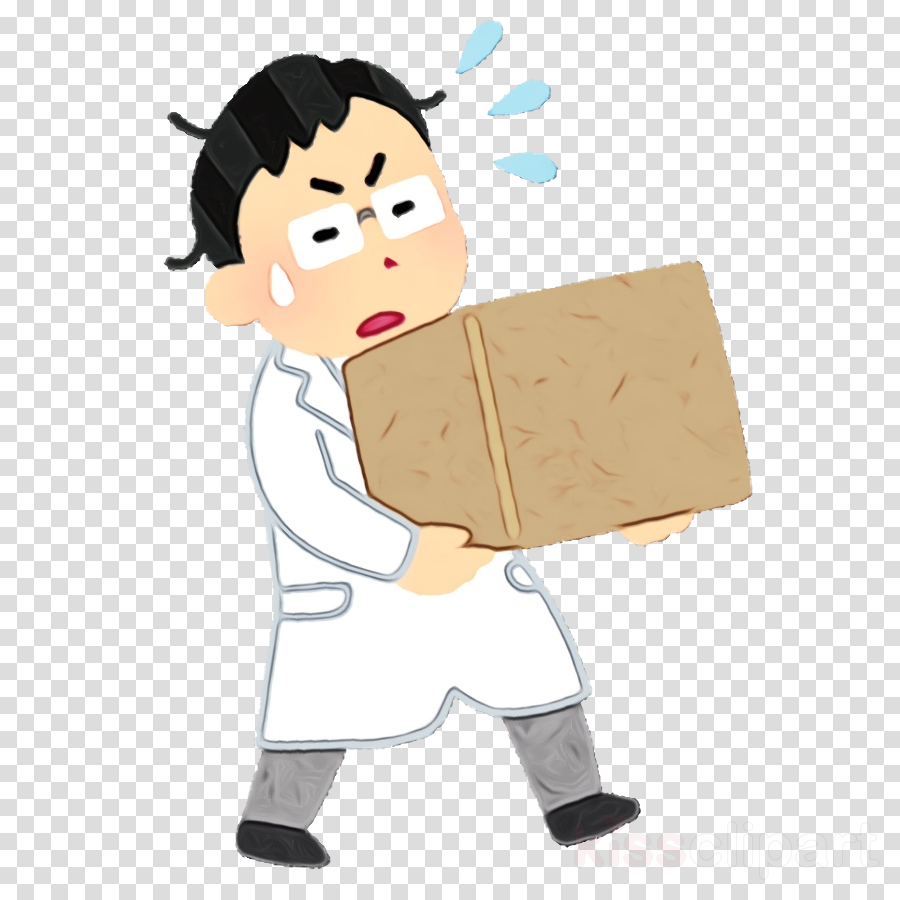 cartoon package delivery karate