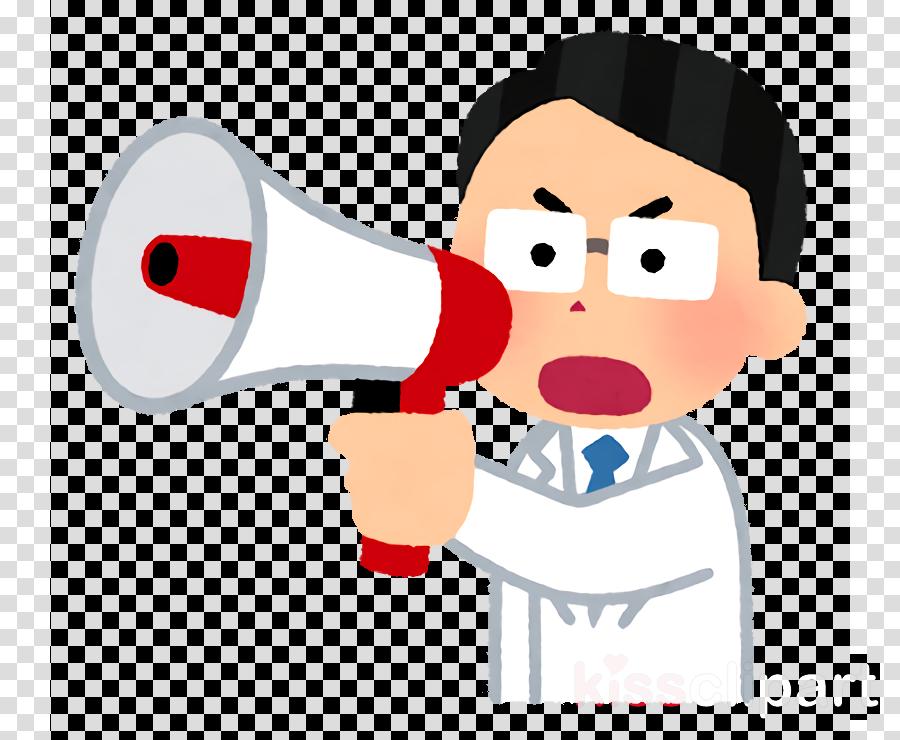 cartoon megaphone nose karate