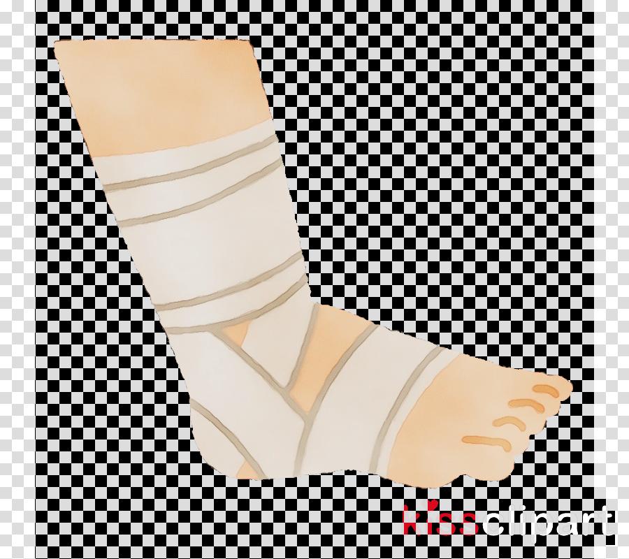 white beige sock yellow footwear