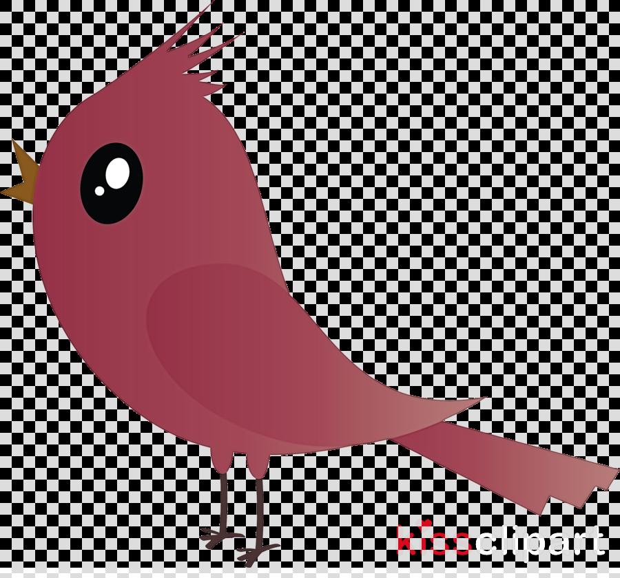 bird cardinal cartoon beak pink