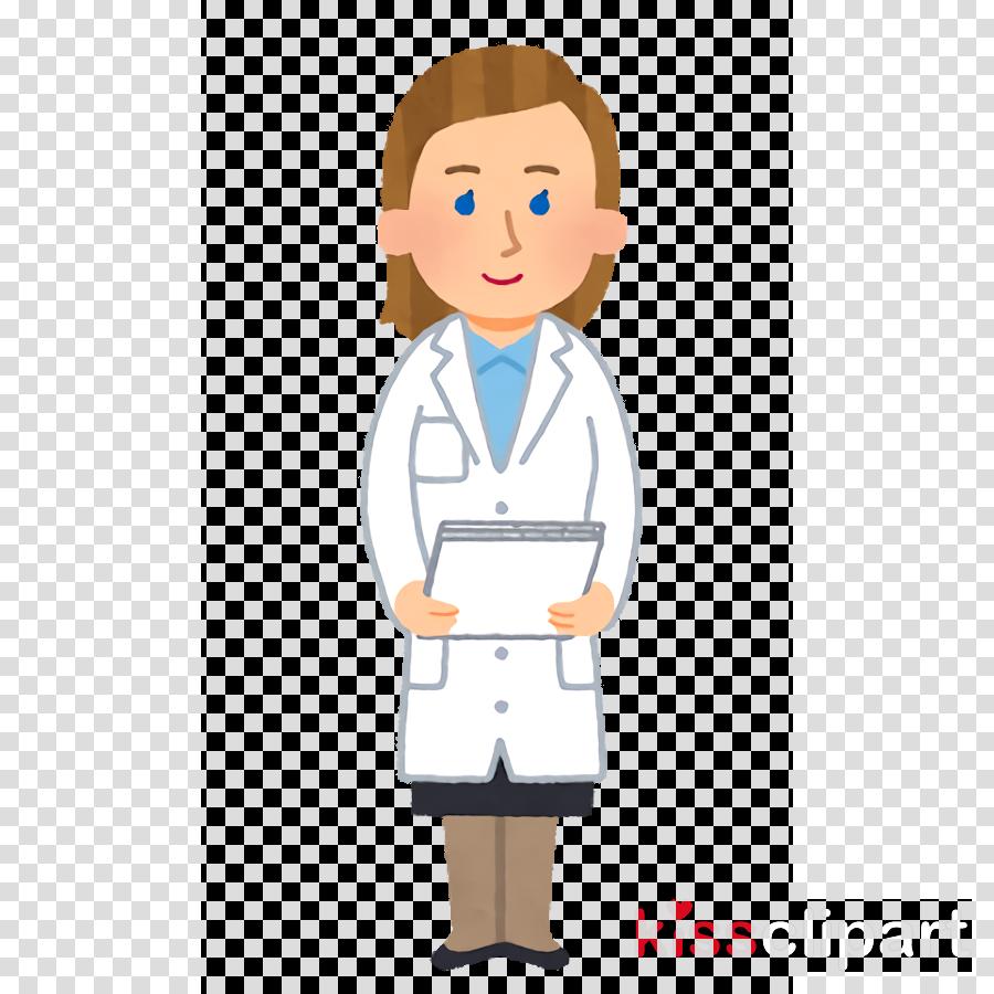 cartoon standing physician health care provider nurse