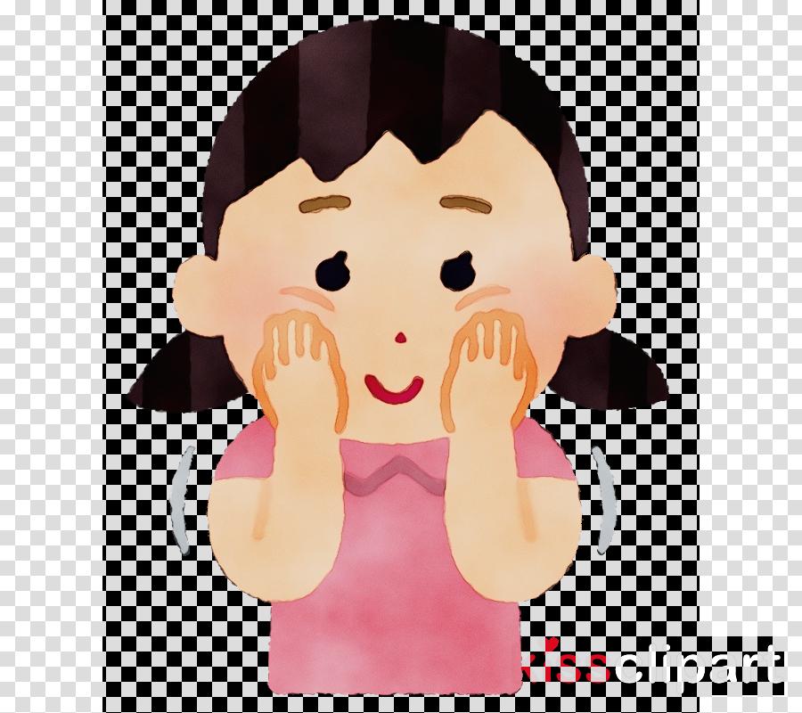 cartoon facial expression cheek nose pink