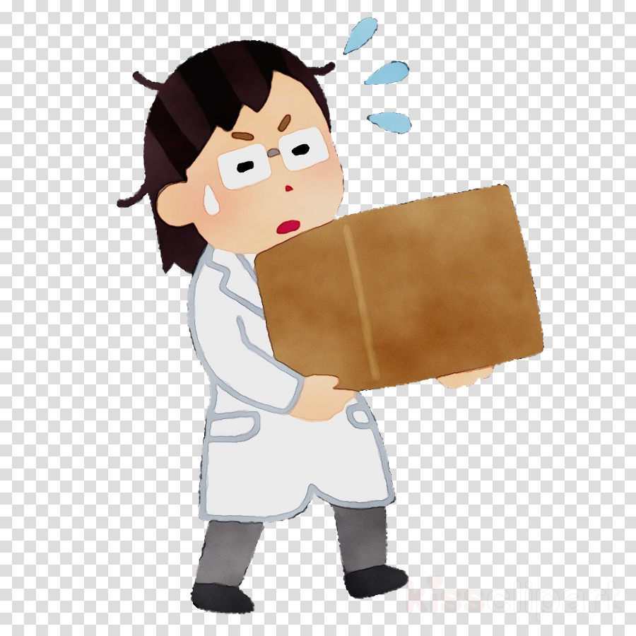 cartoon package delivery