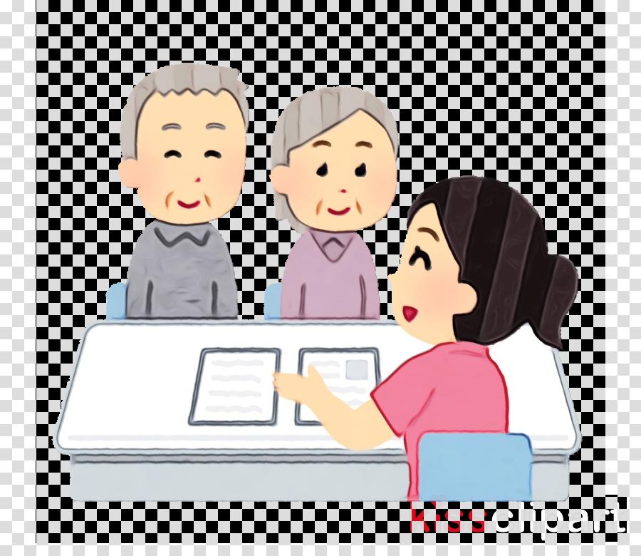 people cartoon sharing learning job