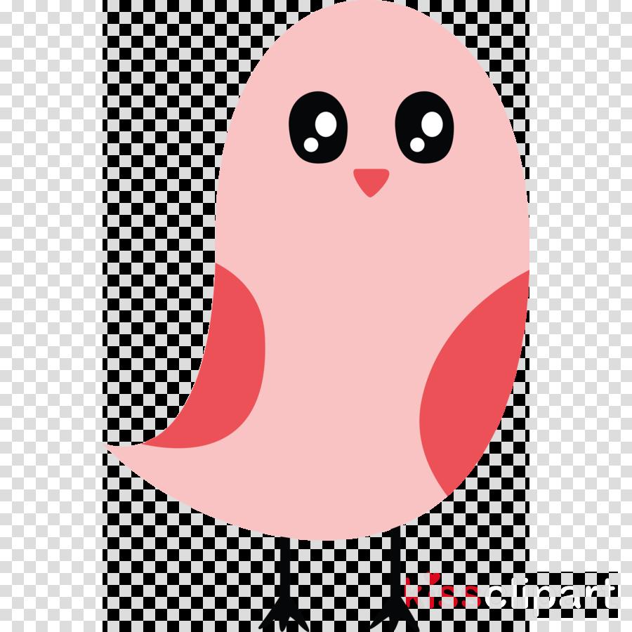pink cartoon bird