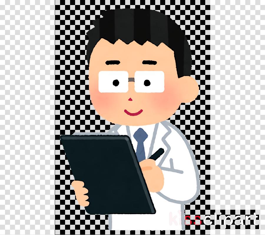 cartoon reading finger job white-collar worker