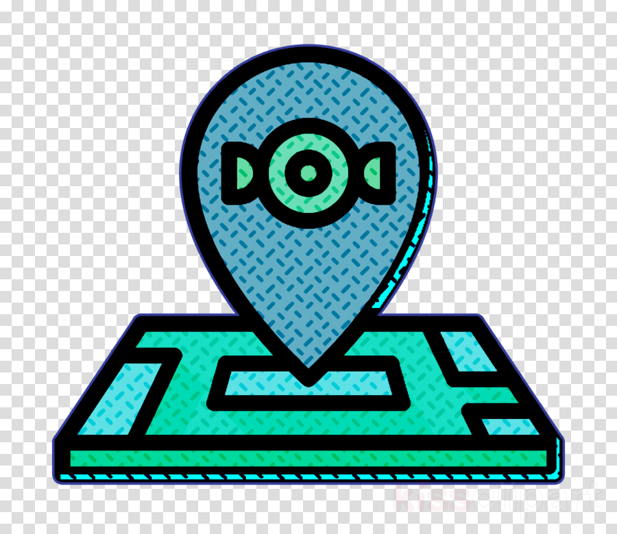 Maps and location icon Candies icon Location icon