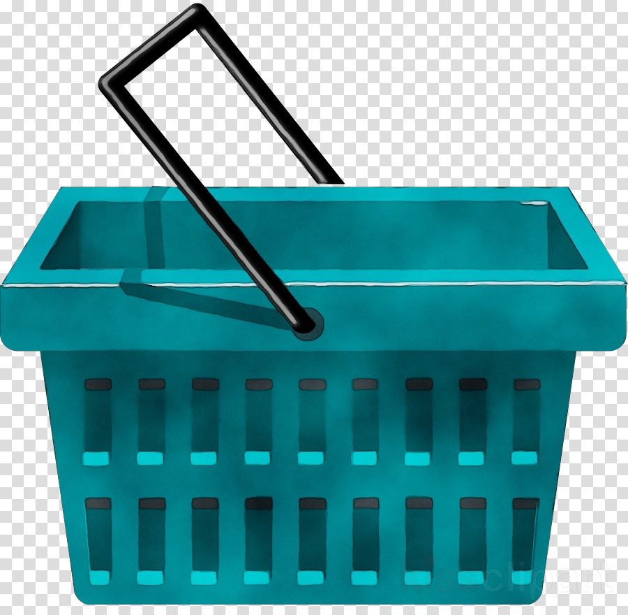 turquoise plastic waste containment waste container storage basket