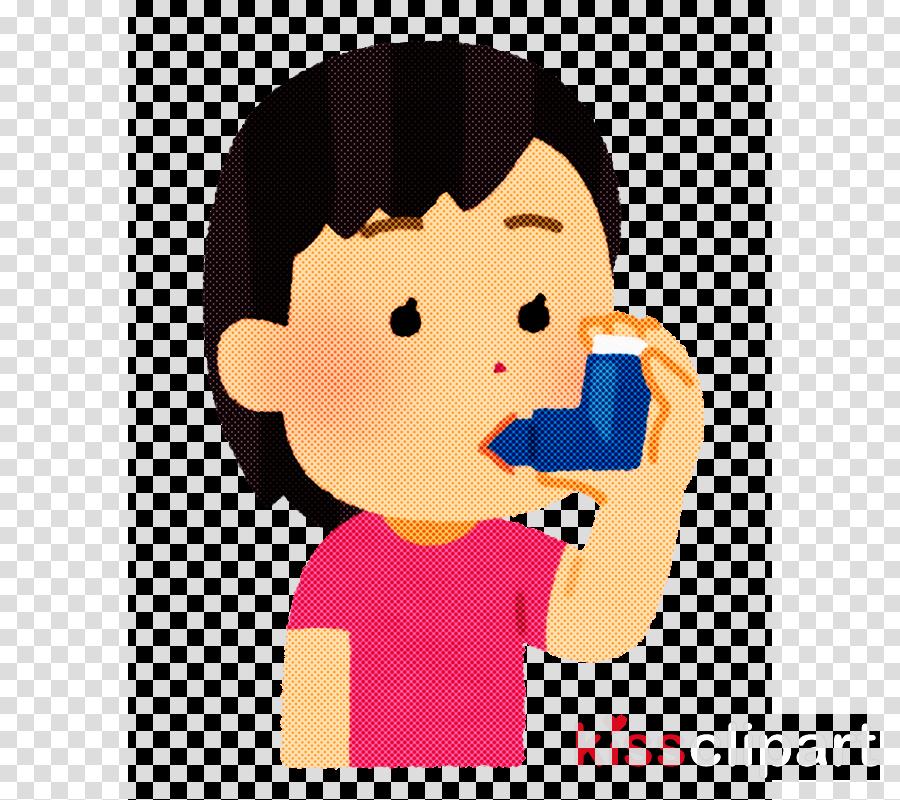 cartoon nose child cheek drinking