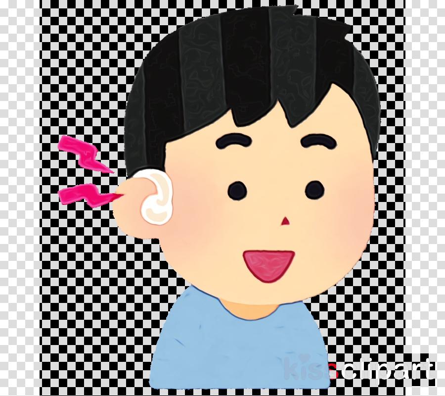 cartoon face cheek nose forehead
