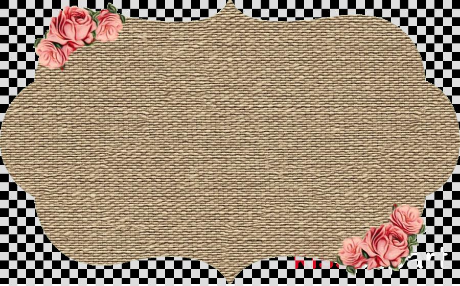 pink brown beige placemat wool