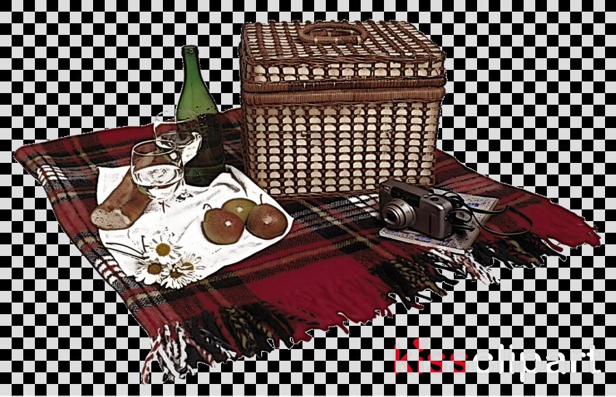 tartan picnic basket table basket