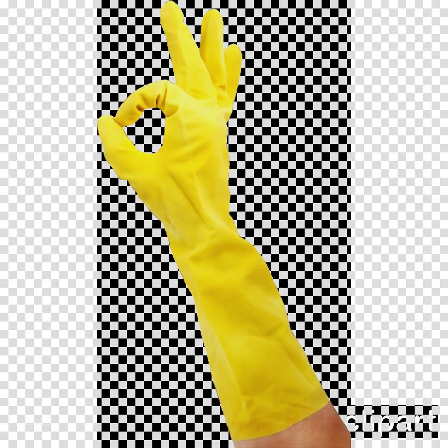 yellow glove safety glove hand arm