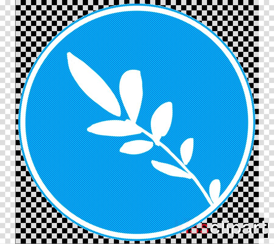 blue leaf turquoise aqua logo