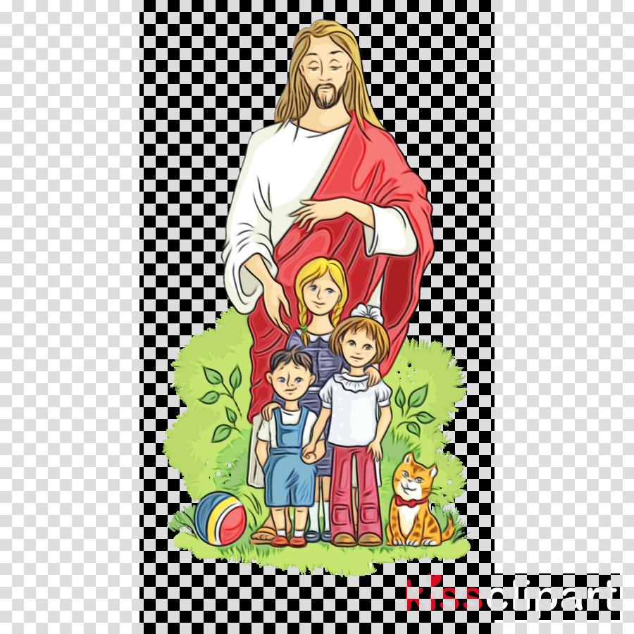people cartoon nativity scene child