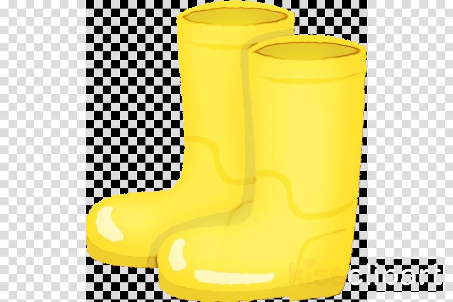 yellow footwear rain boot boot shoe