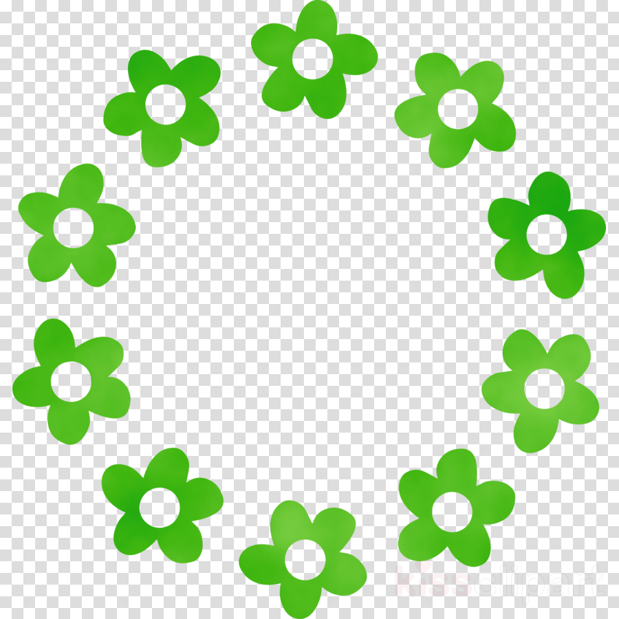 green leaf plant symbol circle
