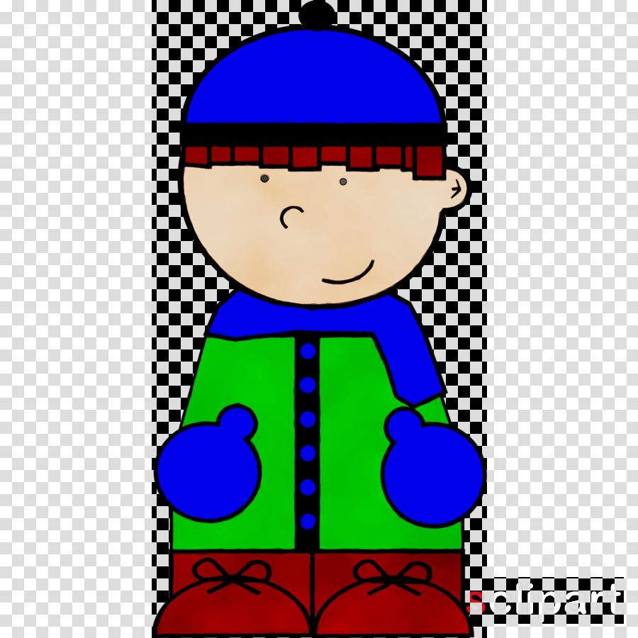 cartoon blue green child line