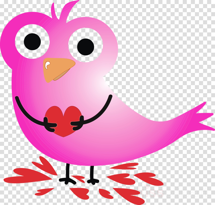 pink cartoon bird beak magenta