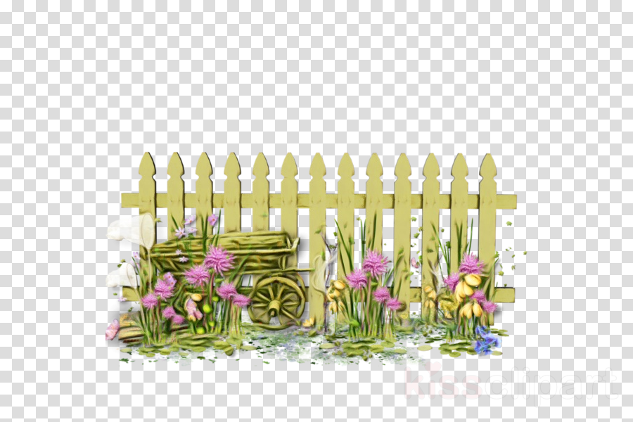 Wooden fence with flowers in the garden - Download Free Vectors, Clipart  Graphics & Vector Art