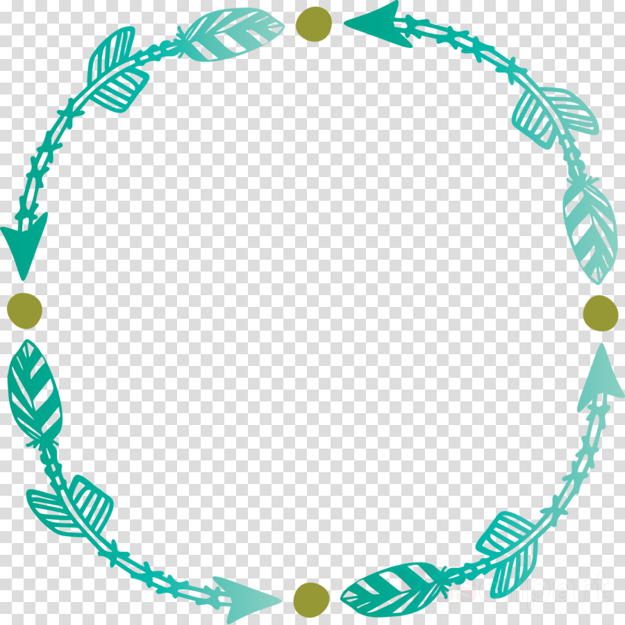 turquoise teal line circle