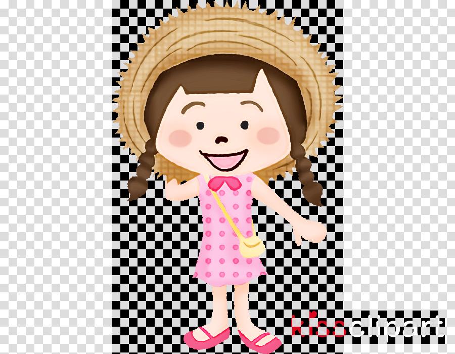 cartoon pink cheek child