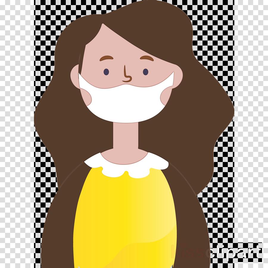 cartoon nose animation brown hair smile