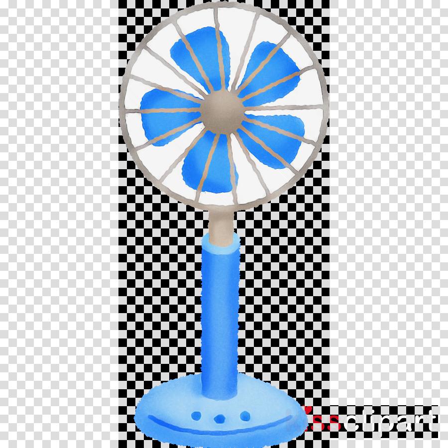 mechanical fan electric blue