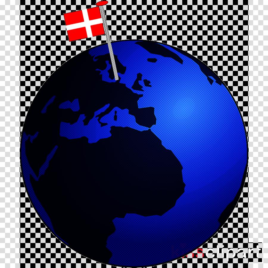 blue world globe cobalt blue earth