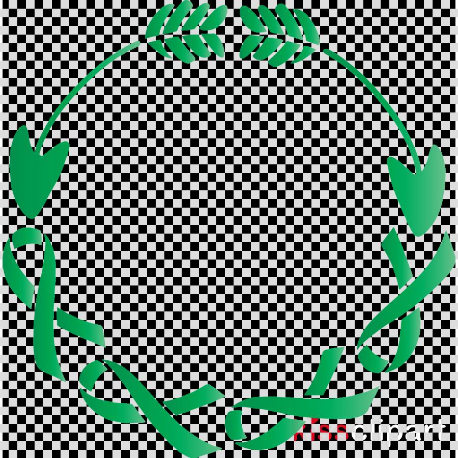 green leaf circle smile