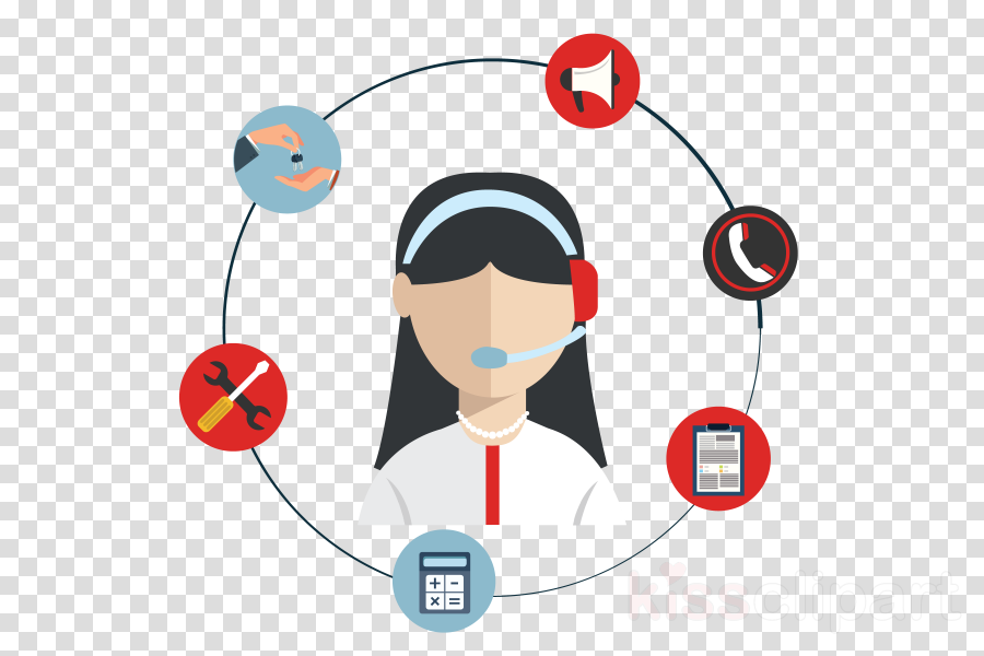headphones audio equipment cartoon call centre technology