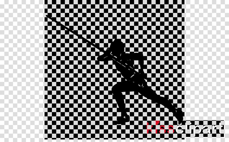 pole vault solid swing+hit silhouette recreation athletics