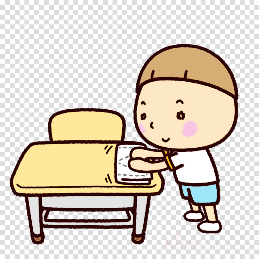 cartoon child furniture sitting