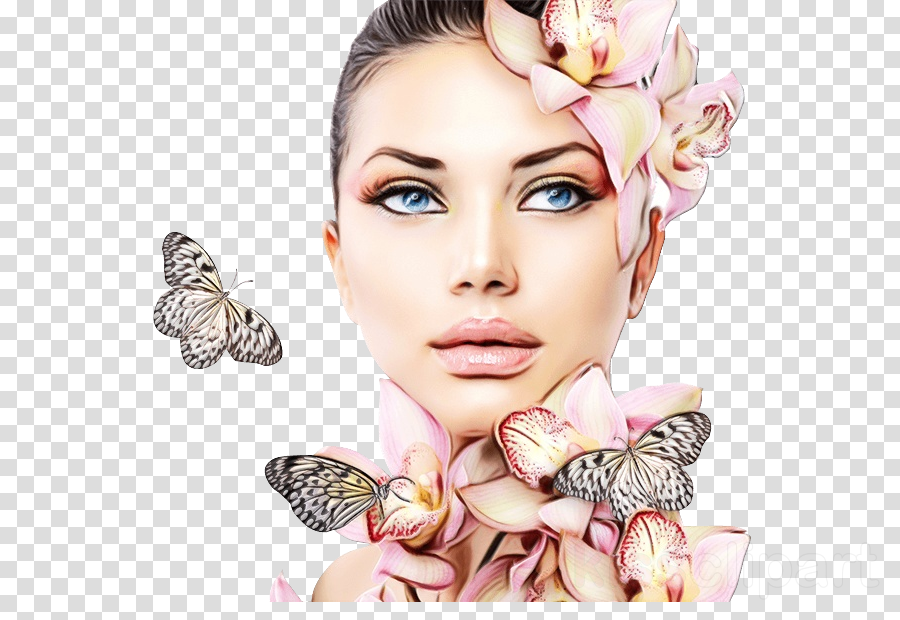 face butterfly eyebrow cheek beauty