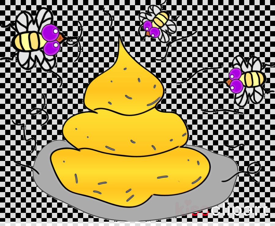 yellow purple cartoon line plant